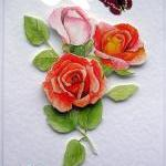 Rose Hand-Crafted 3D Decoup..