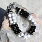 Black Onyx & White Howlite ..